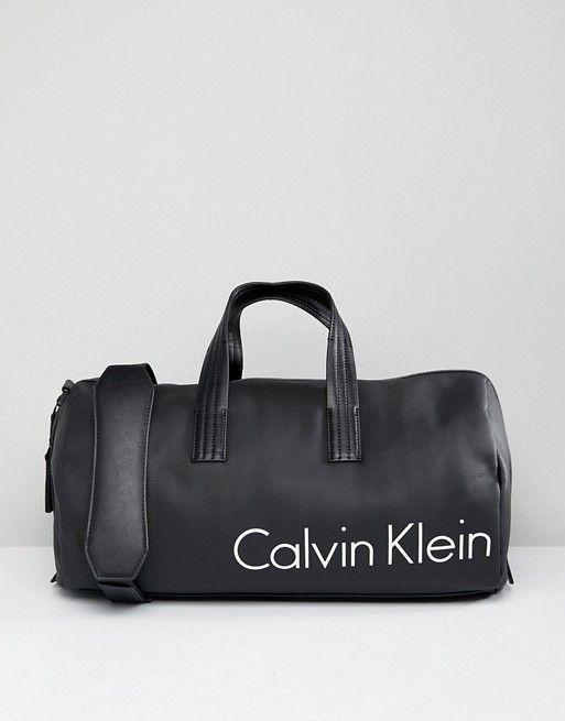 Calvin Klein Duffle Bag With Logo