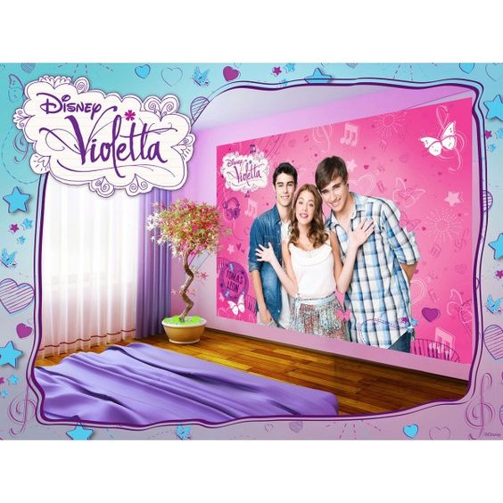 fresque murale violetta disney papier peint maxi poster. Black Bedroom Furniture Sets. Home Design Ideas