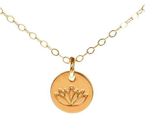 714 best women necklaces chains images on pinterest necklace chain lotus necklace tiny gold filled yoga pendant on gold filled chain dainty zen flower charm highest rating deal satya jewelry highest rating deal mozeypictures Choice Image