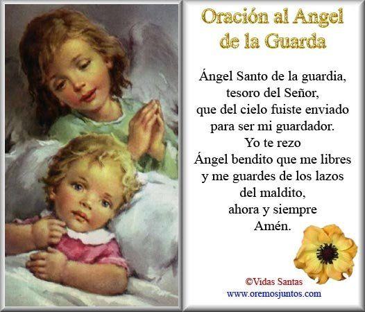 Blog Católico Parroquia Santa María de Baredo-Baiona: Oración al Ángel de la Guarda para imprimir