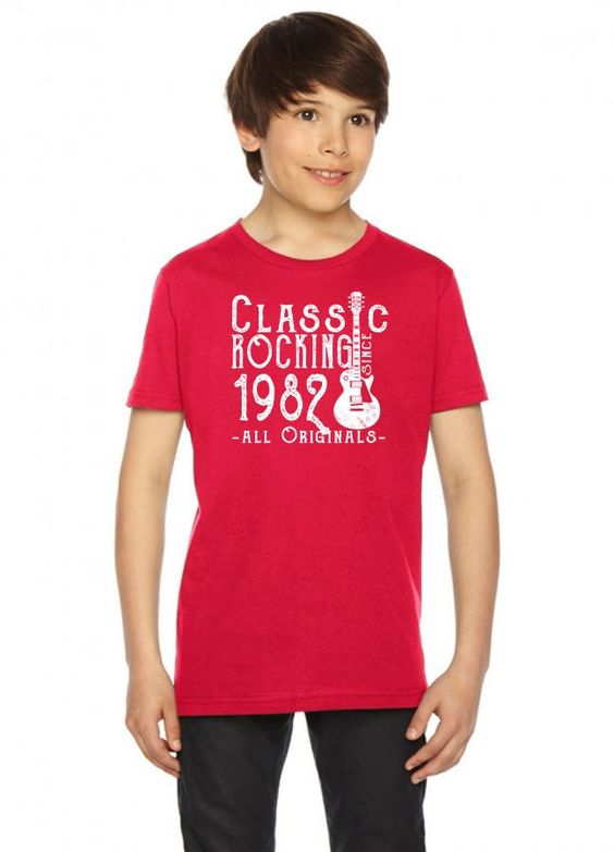 rocking since 1982 copy Youth Tees