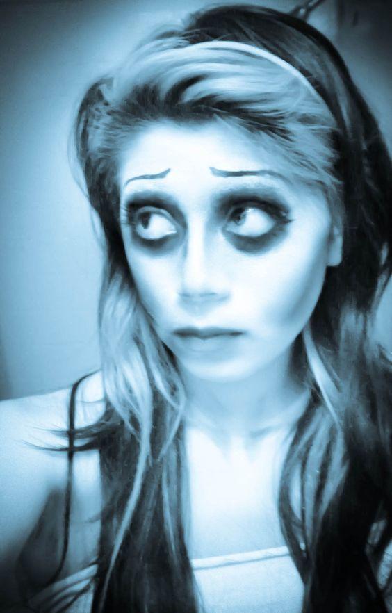 Eye and foundation. Cheekbones, sunken eyes, pale foundation ...