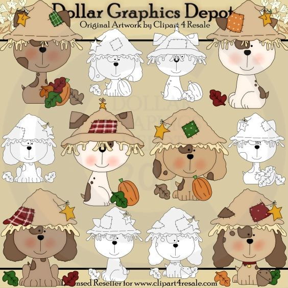 Fall Pups - Combo Set - $1.00 : Dollar Graphics Depot, Quality Graphics ~ Discount Prices