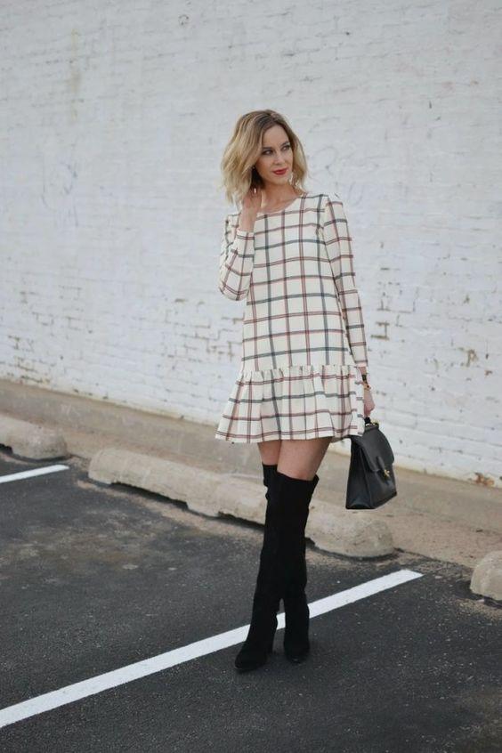 Тренд: платье с заниженной талией 5