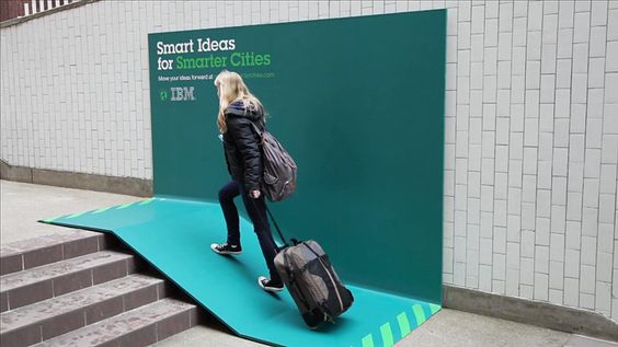 street furniture billboards by IBM + ogilvy mather
