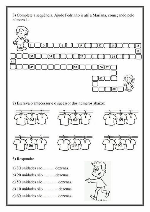 Atividade Aprendendo Os Numeros Volume 2 Apostila De Matematica