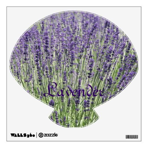 Lavender Seashell Decorative Wall Decal  #flowers #floral #purplelavender #herbs #walldecor #walldecorations #wallstickers