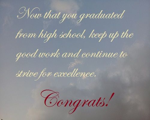 high school graduation quotes from parents high school
