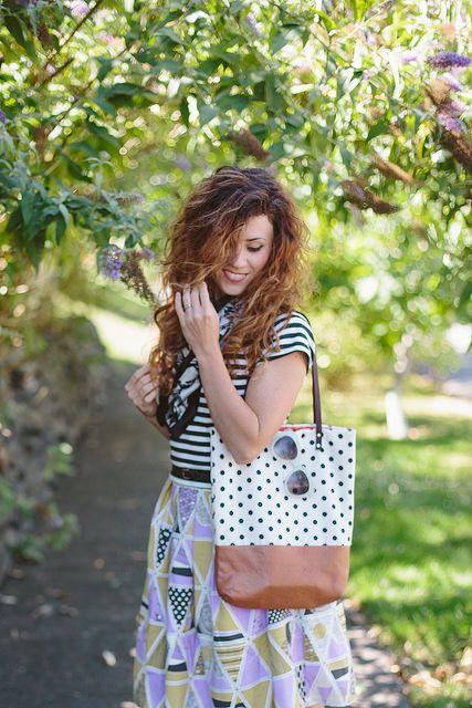 bolsa de couro ecológico e tecido