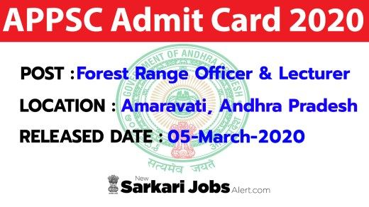 Appsc Admit Card 2020 Forest Range Officer Lecturer Mains Call Letter Download In 2020 Lettering Download Job Opening Lecture