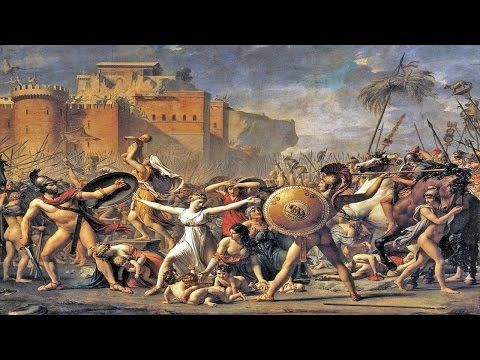 El Rapto De Las Sabinas Jacques Louis David 1874 Luz Clara Y Difusa Armonía Entre Las Proporciones Trato De Figuras Co La Sabina Historia De Roma Artistas