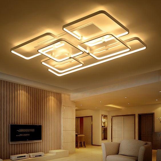 에서 광장 표면 장착 현대 led 천장 조명 거실 조명기구 실내 홈 ...