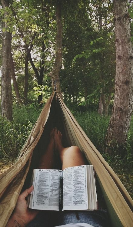 This looks like bliss. Lets go pop up a hammock in the middle of a forest and read the day away!!: