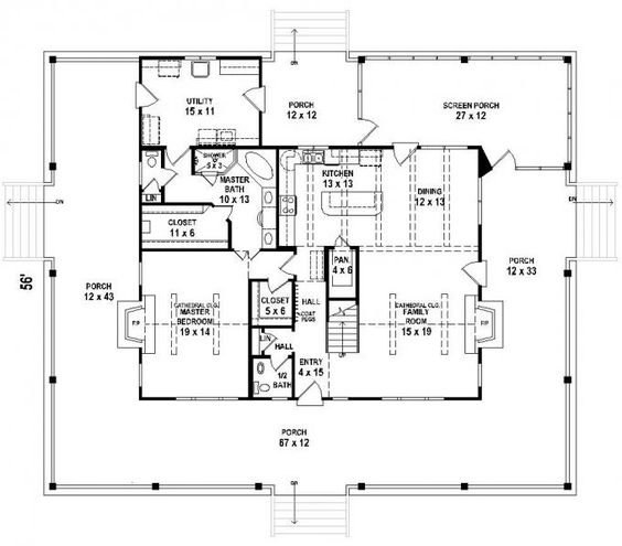 653684 3 bedroom 25 bath southern house plan with wrap around porch house plans floor plans home plans plan it at houseplanitcom pinterest