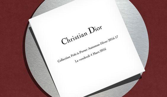 L'invitation du défilé Dior automne-hiver 2016-2017 en avant-première: