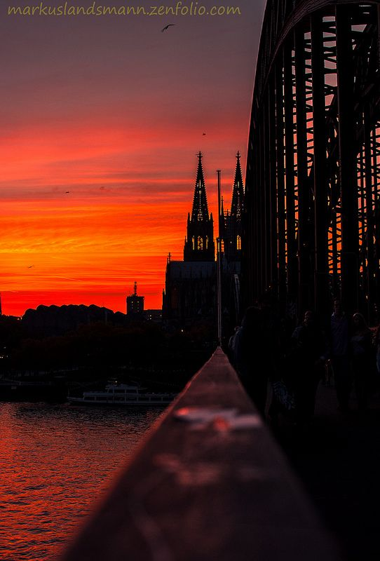 Sunset, Hohenzollern Bridge, Germany