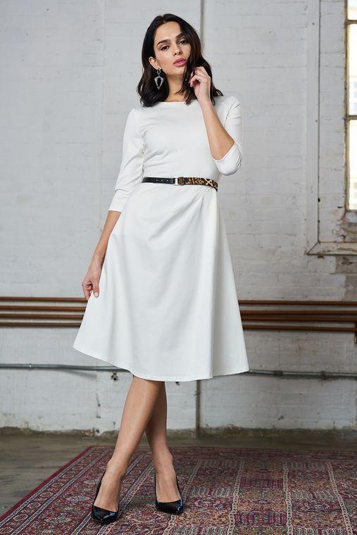 Ponte Dress With Pockets White Dresses Ponte Dress Women S Fashion Dresses