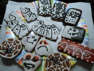Galletas para una fiesta de halloween
