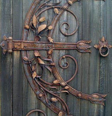 Garden Gate hinge - a work of metal art