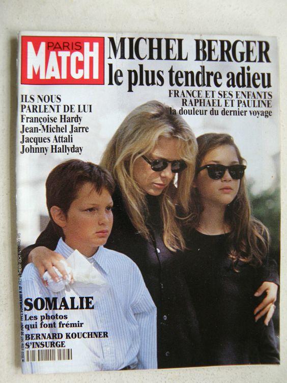 d tails sur revue paris match n 2256 1992 mort de michel berger somalie les photos frances o. Black Bedroom Furniture Sets. Home Design Ideas