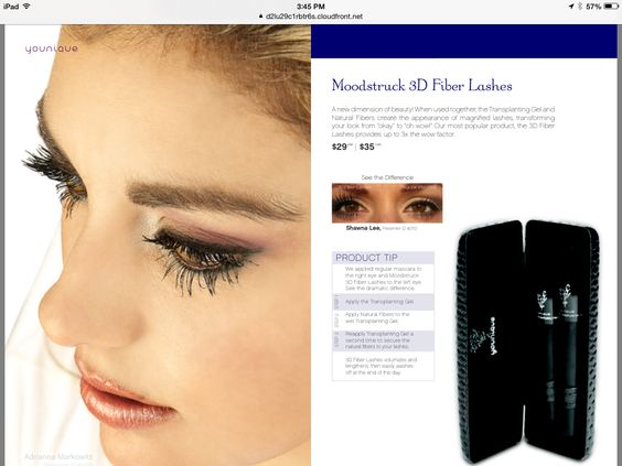 Transform your lashes in minutes.  Youniqueproducts.com/Sassesinderella