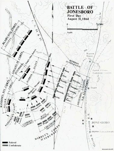 Battle of Jonesboro - First Day, August 31, 1864