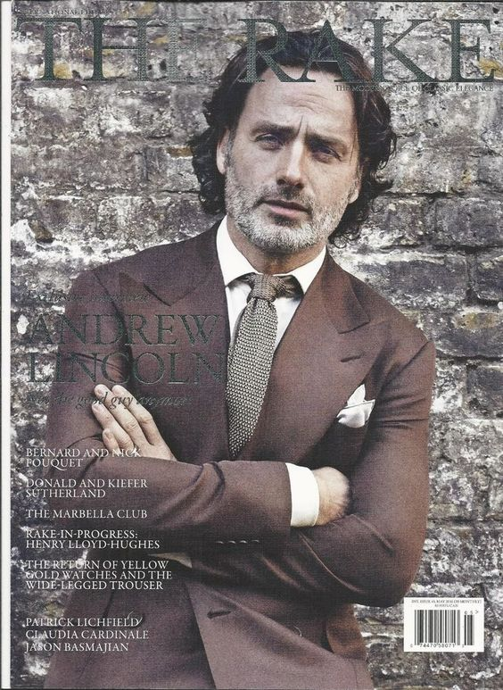 Rake magazine Andrew Lincoln Donald and Kiefer Sutherland Henry Lloyd Hughes