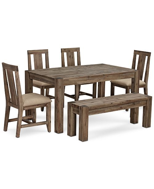 Surprising Canyon Small 6 Pc Dining Set 60 Dining Table 4 Side Alphanode Cool Chair Designs And Ideas Alphanodeonline