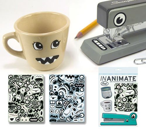 Stickers for inanimate objects.  Oh the possibilities