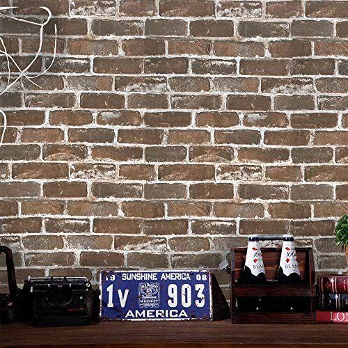 17 7 197 3d Vintage Brown Brick Wallpaper Brick Contact Https Www Amazon Com Dp B07qmd4dmf Ref Brick Wallpaper Peel And Stick Wallpaper Fake Brick Wall