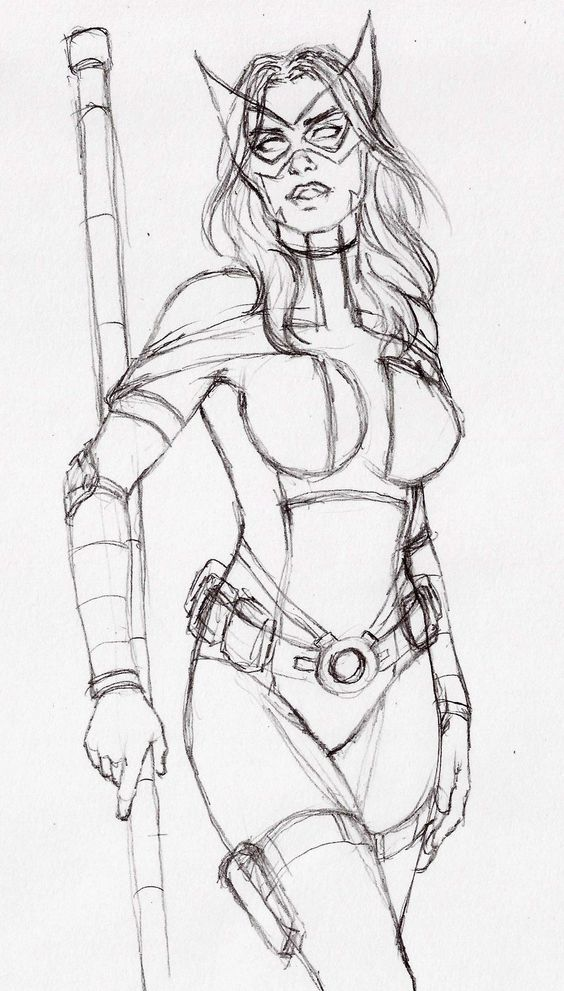 HUNTRESS, LAYOUT PIN UP FOR NEXT AUCTION !!! by carlosbragaART80 on DeviantArt