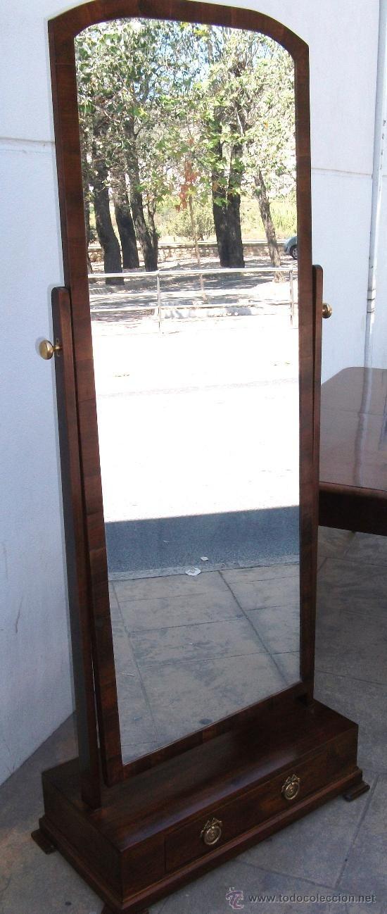 Espejo de pie de caoba ingles antig edades muebles for Espejo de pie