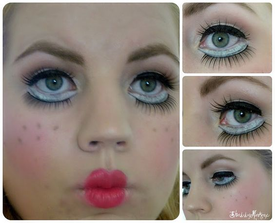 Doll makeup, Halloween and Doll eyes on Pinterest