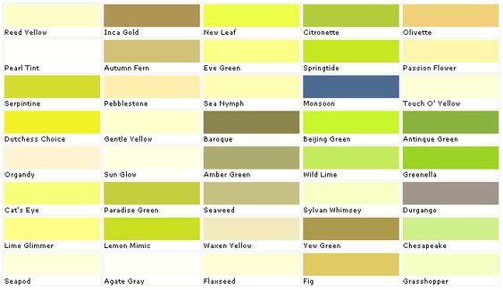 paint color swatches paints color green paint colors yellow colors. Black Bedroom Furniture Sets. Home Design Ideas