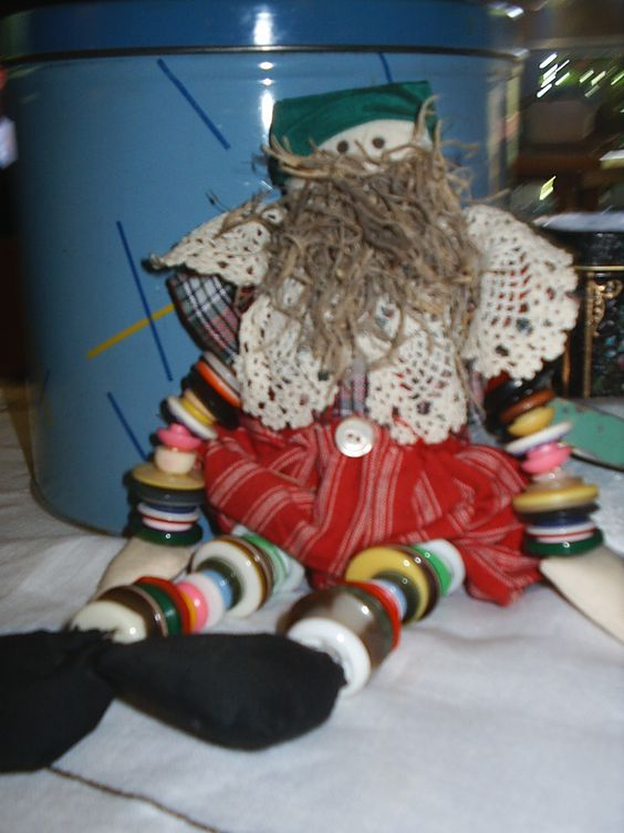A button doll recently bought at an estate sale.