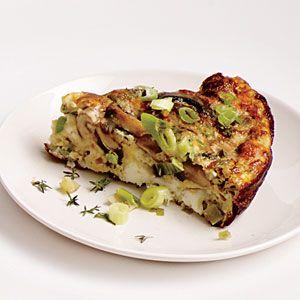 Mushroom, Leek, and Fontina Frittata | Cooking Light #myplate #protein ...