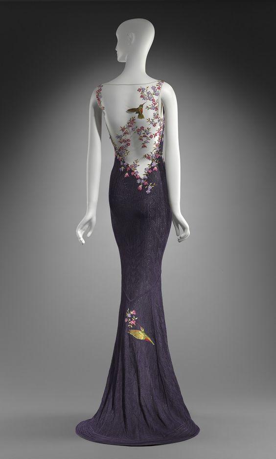 Beautiful hummingbird dress by John Galliano.  Worn to the Oscars in 1999 by Cate Blanchett.