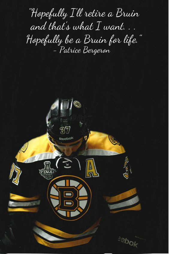 Trust me, that's what we all want. - Patrice Bergeron - Boston Bruins Bergeron <3