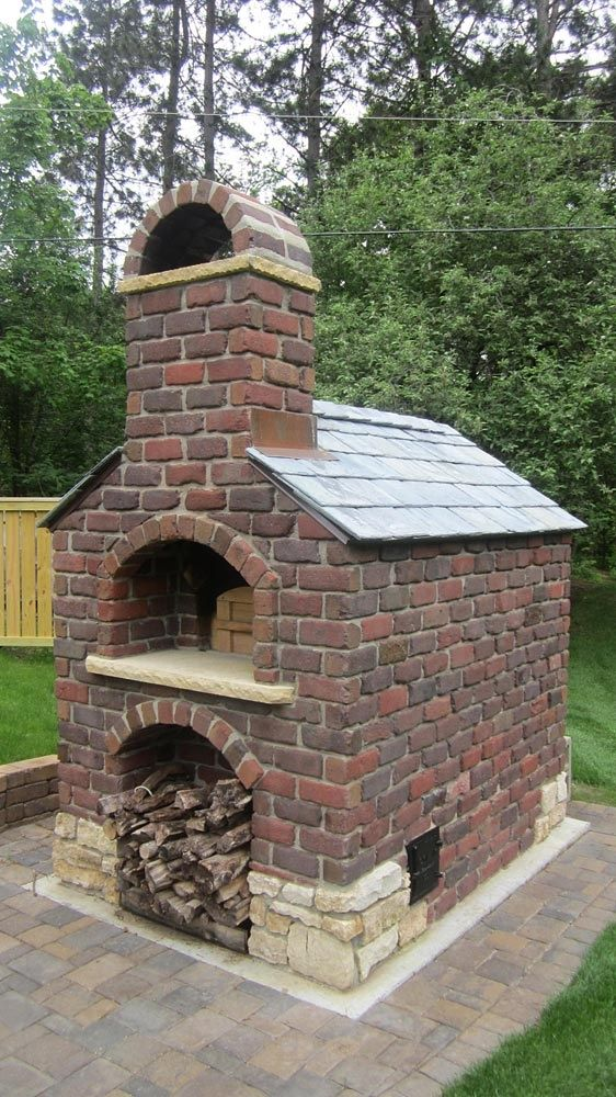 Pizza ovens ovens and church on pinterest - Outdoor kitchen designs with pizza oven ...
