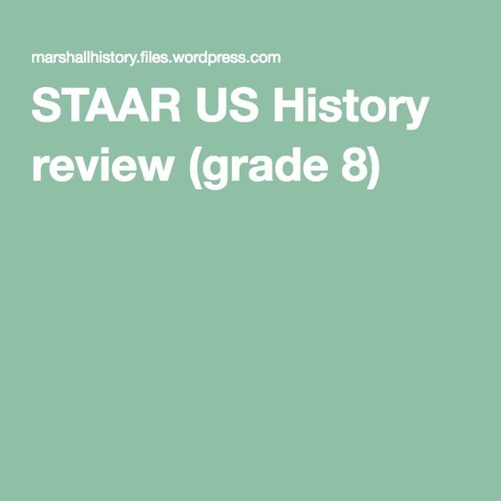 STAAR US History review (grade 8)