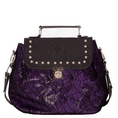 Purple Bag with Detachable Chain