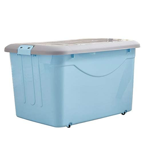 Tyjy Large Plastic Storage Box Modular Stackable Storage Bins With Pulley And Latching With Images Stackable Storage Bins Plastic Box Storage Large Plastic Storage Boxes