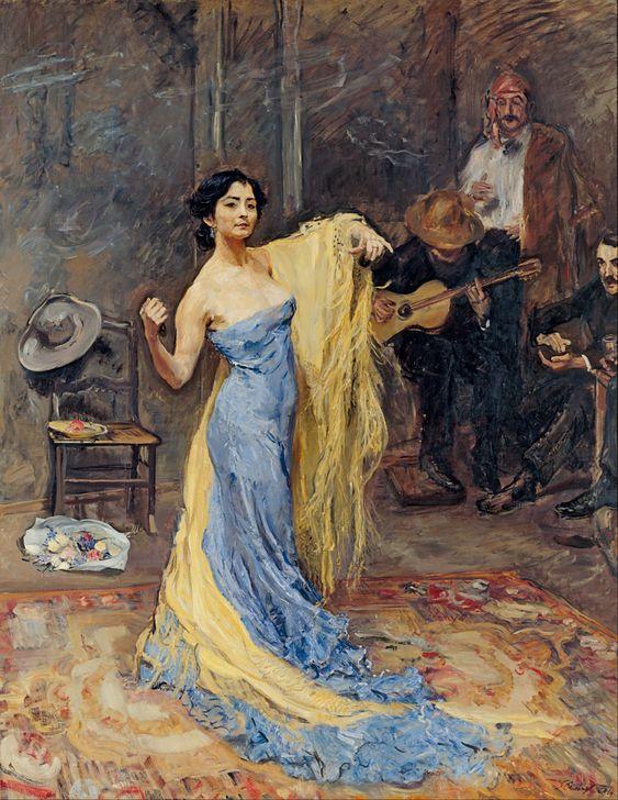De danseres Anna Pavlova ~ 1904 ~ Olieverf op doek ~ 229 x 180 cm. ~ Galerie Neue Meister, Staatliche Kunstsammlungen, Dresden
