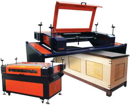 """SN4024 Laser Machine -  Fully equipped with a 40"""" x 24"""" work area, patented removable laser top, EZ-Leveling System, and a high power 100w laser tube, the SN4024 is a great laser machine for most of your laser engraving needs. Learn more: http://aplazer.com/sn4024-laser-machine/"""