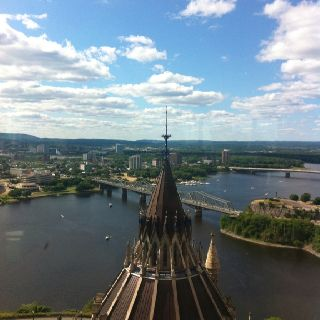 Ottawa river from Peace Tower