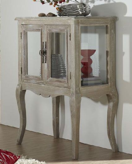 Mueble auxiliar madera decape blanco muebles decape for Muebles auxiliares clasicos madera