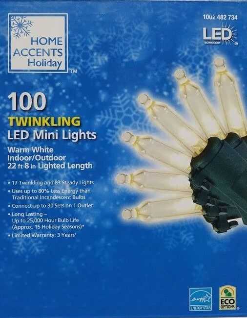 100l Led Smooth Mini Light 1 5 Twinkle Warm White Christmas Homeaccentsholiday Warm White Light White Christmas