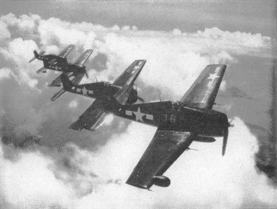 Marine F6F-5N Hellcats.