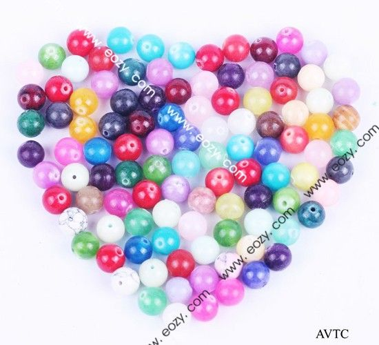 8mm Gemstone Natural Round Assorted Loose Charm Beads Bracelet Jewelry Making #eozy