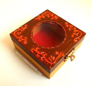 Como pintar y decorar una caja de madera ~ cositasconmesh
